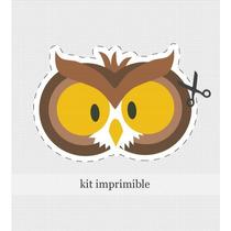Kit Imprimible Bosque Personalizado Cumple Invitación Souven
