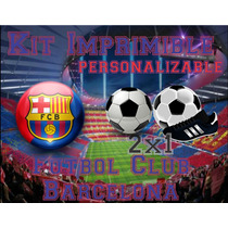 Kit Imprimible Barcelona Futbol Club Editable 2x1