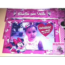 10 Imanes Personalizados Minnie Souvenirs 14x10cm