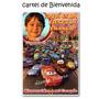 Cumpleaños Cars Cartel Bienvenida + 15 Souvenirs Imanes Foto