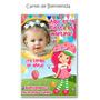 Cartel Cumpleaños Frutillitas Minnie Con Tu Foto Y Nombre