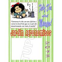 12 Imanes Personalizados C/anotador Día Del Maestro-souvenir
