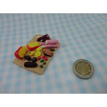 Picada Miniatura Para Muñecas Barbie En Porcelana Fria