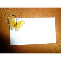 Mariposa De Tul 3 Cm Ideal Souvenir Amarilla