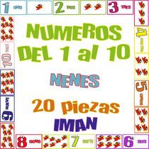 Juego Didáctico Números 1 Al 10 Iman - 20 Piezas Nenes