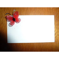 Mariposa De Tul 3 Cm Ideal Souvenir Roja