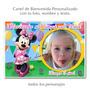 Divino Cartel De Cumpleaños Personalizado Minnie Rosa C/foto