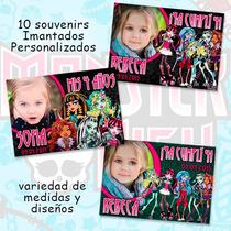 Monster High Souvenirs Cumpleaños Imantados Con Foto X 10 U.