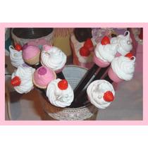 Souvenirs Lapices Decorados Cumple Cupcake Porcelana Fria