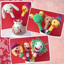 Souvenirs Amigurumi Adorno Lápiiz Lapices Crochet Amigurumis