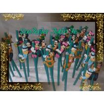 10 Lapices Souvenirs En Porcelana Fria