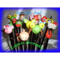 10 Lapices Souvenirs Personalizado Mickey Sofia Frozen Angry