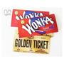 50 Invitaciones Willy Wonka Golden Ticket Con Sobre