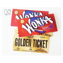 10 Invitaciones Willy Wonka Golden Ticket Con Sobre