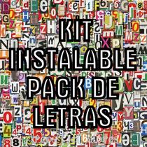 Kit Super Coleccion De Letras Mas De 10000 Fuentes 2x1