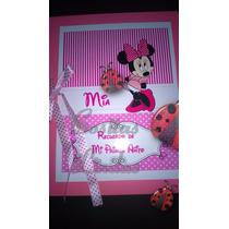 Libro De Firmas Personalizados Mickey Miniie Bautismo