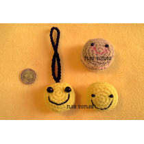 Carita Smile Tejida Crochet Ideal Souvenir Infantil Llavero