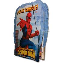 Piñata De Carton Del Hombre Araña/avengers