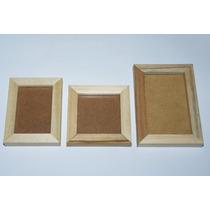 Pack X50 Portarretratos Souvenirs Sin Pintar Con Vidrio 6x9