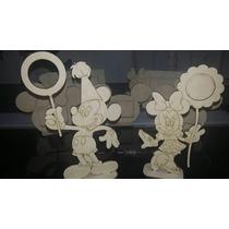 Porta Retrato Minnie Con Flor En Fibrofacil