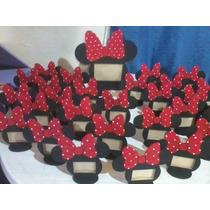 Portaretrato Fibrofacil Minnie, Mickey Pintados A Mano