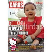 Invitaciones Infantiles Tapa De Revista Personalizadas Foto