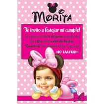 Invitaciones Personalizadas De Minnie