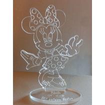 Souvenir Minnie En Acrilico 11,5cm X 8cm Grabado Laser