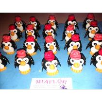 Souvenirs Pingüinos Portafoto Porcelana Fria