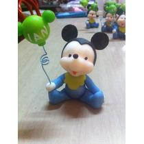 Hermosos Souvenirs De Mickey Mouse Bebe En Porcelana Fría