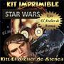 Kit Imprimible Star Wars Caretas -envio Gratis