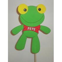 Sapo Pepe Y Sus Amigos Centros De Torta En Goma Eva