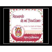 Tarjetita Souvenir 5x5 C/cinta Cumple Nacimiento Bautismo