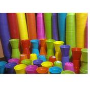 Macetas Plasticas De Colores Pequeñas 6x6cm Souvenir Cactus