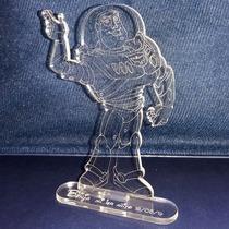 Souvenir Buzz Toy Story En Acrilico Grabado Laser 12cm X 8cm