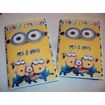 Libritos Souvenirs Personalizados P/ Pintar X10 U +stickers