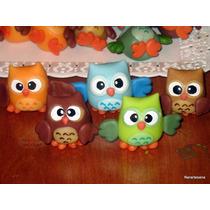 Souvenirs Búhos | Lechuzas | Animalitos En Porcelana Fría