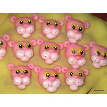 10 Souvenirs Cabecitas Pantera Rosa Porcelana Fría