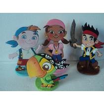 Jake Y Los Piratas Figuras Planas En Porcelana Fría