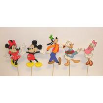 Mickey Y Sus Amigos Centros De Torta En Goma Eva