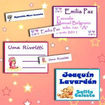100 Etiquetas Para Útiles Escolares-cuadernos-personalizadas
