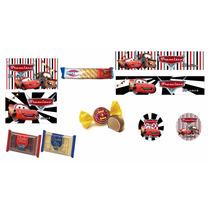Etiquetas Personalizadas Candy Bar Golosinas Cars Y Mas