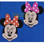 10 Caritas Minnie + Cartel Pared Goma Eva. Color A Elegir