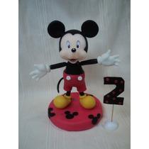 Mickey Mouse Adorno Para Torta En Porcelana Fria