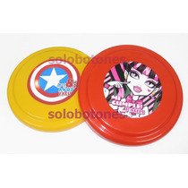30 Frisbees Souvenir Persnalizados Monster High Frozen Y Mas