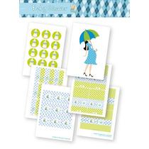 Kit Para Imprimir En Casa! Baby Shower Manzana Y Celeste