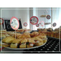 Toppers De 6 Cm Personalizados Cupcake Tortas Mesas Dulces