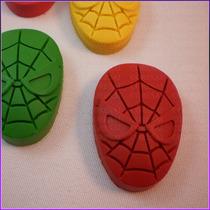 Crayones - Souvenirs - Spiderman - Hombre Araña - Pack X 48