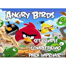 Kit Imprimible Cumple Angry Birds Candy Bar Completisimo!!!