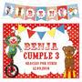 Kit Imprimible Circo Candy Bar Cumpleaños Invitación